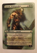Garruk in the mist, hand painted and airbrushed