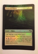 Border extension on foil modern staple