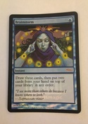 Foil brainstorm with moxen in the yellow lights, and time walk in the background