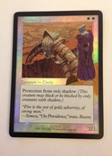 Pop out of the mysterious figure in the original art on this beautiful foil promo